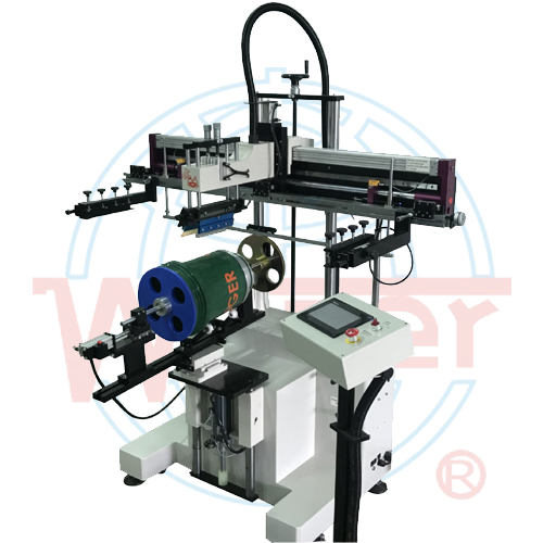 Large screen printer for curve surface (Auto registration)