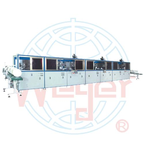 3 Color Automatic screen printing machine