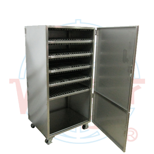 Storage cabinet of steel plates