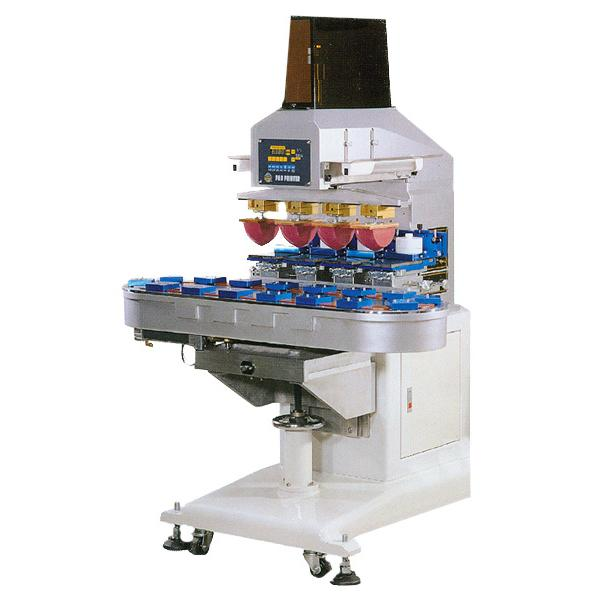 Four Color Sealed Ink Cup Pad Printer with Rotary Table