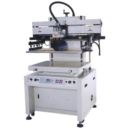 Motor type screen printer with vacuum for flat surface