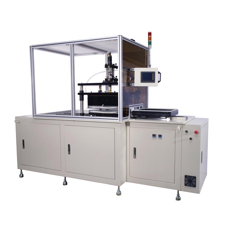 3D Hydraulic type vacuum heat transfer machine with slide table.